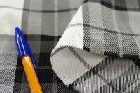 ポリエステル162cm巾 チェック